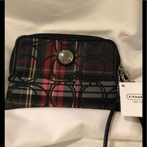 Coach wristlet mini wallet